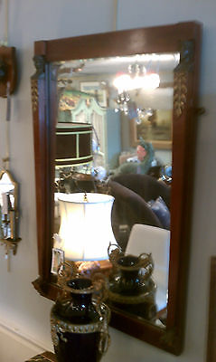 Neoclassical Mahogany Marble Top Console And Mirror Bronze Mounts