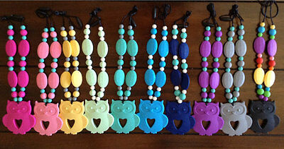 Silicone Owl Teething / Nursing Necklace For Mommy! Bpa Free! Baby Shower!