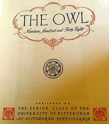 1948 UNIVERSITY of PITTSBURGH yearbook THE OWL ~ fine, used condition