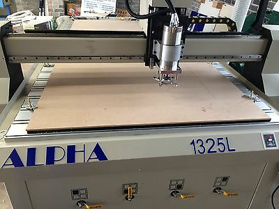 ALPHA CNC router engraver 1.3x2.5m 3KW 24000rpm spindle 1325L - from $17,950+GST