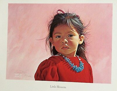 "Native American portrait ""Little Blossom"" by George Molnar S/N LE print"