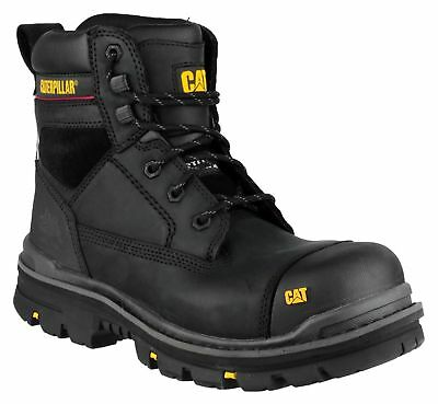 """CATERPILLAR CAT Gravel S3 black safety 6"""" work boot with midsole size 6-13"""