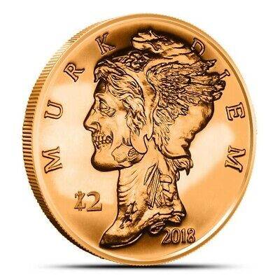Zombucks Murk Diem 1 oz .999 Copper BU Round USA Made ZOMBIE Bullion Coin