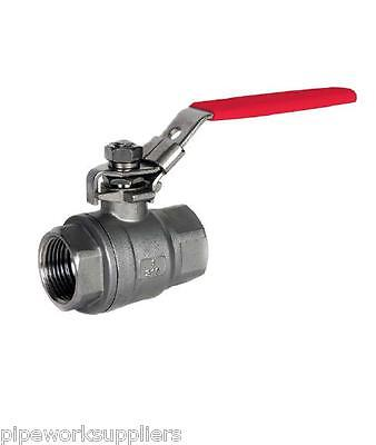 "Stainless Steel 2 Piece Lever Ball Valve  - Npt Thread  - 1/4"" To 2"""