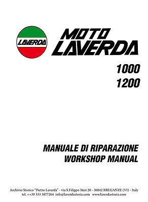 Moto Laverda 1000-1200 manuale di riparazione - workshop manual