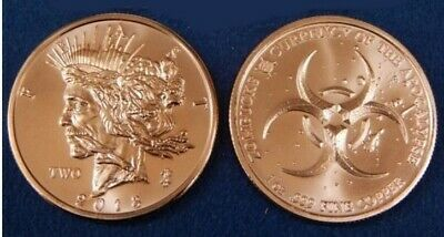 Zombucks Feast Dollar 1 oz .999 Copper BU Round USA Made ZOMBIE Bullion Coin