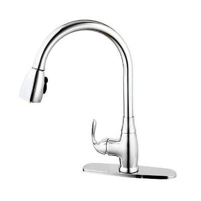 """Single Handle 7-3/4"""" H Spout Kitchen Faucet with Pull-Down"""