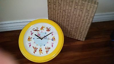 "Winnie The Pooh and Friends 1' 1 1/2"" yellow clock"