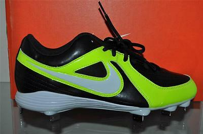 Nike Womens Unify Strike Metal Softball Cleats 537679 017 Black/Yellow NIB