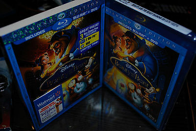 Beauty and the Beast (Blu-ray/DVD, 2010, 2-Disc Set, Diamond Edition) sealed