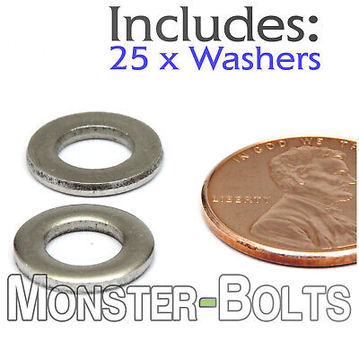 M6 / 6mm - Qty 25 - Metric DIN 125 A Flat Washer Stainless Steel 18-8 / A2