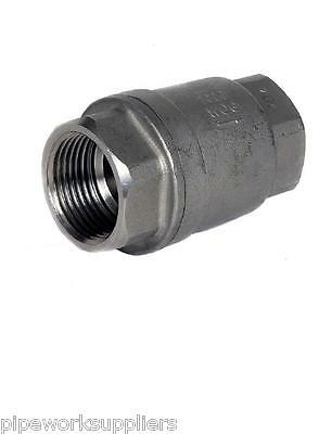 """Stainless Steel 316 Spring Check Valve (Non-Return) - Bspp Thread  - 1/4"""" To 4"""""""