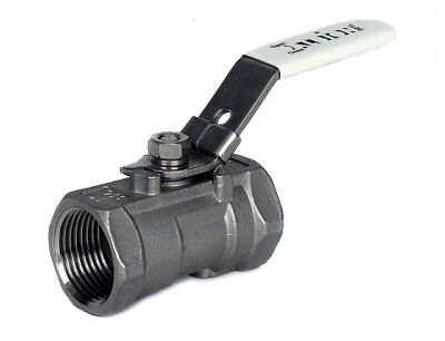 "STAINLESS STEEL 316 LEVER BALL VALVE 1 PIECE - BSP TAPER THREAD  - 1/4"" To 2"""