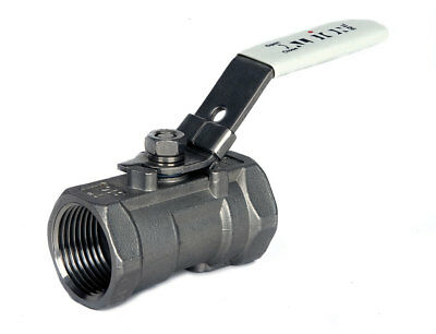 """Stainless Steel 1 Piece Lever Ball Valve  - Bsp Taper Thread  - 1/4"""" To 2"""""""
