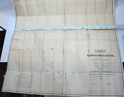 1837 Chart of George's Shoal & Bank, Surveyed by Charles Wilkes