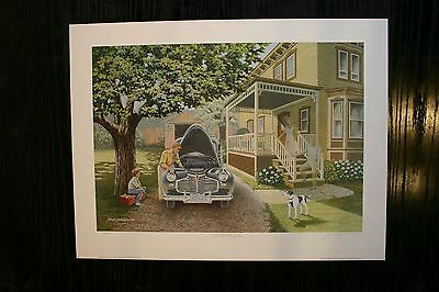 The Old Family Car James Lumbers Signed & Numbered Print Collectors Edition