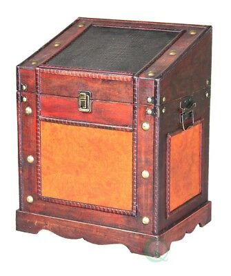 New Vintiquewise(TM) Old Style Desk Podium Chest, QI003035