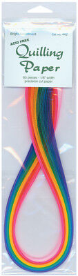 "Quilling Paper 0.125"" (3mm) 80 Per Pack - Bright Assortment"