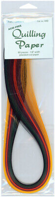"Quilling Paper 0.125"" (3mm) 80 Per Pack - Fall Assortment"