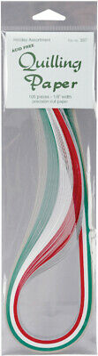"Quilling Paper 0.125"" (3mm) 105 Per Pack - Holiday Assortment"