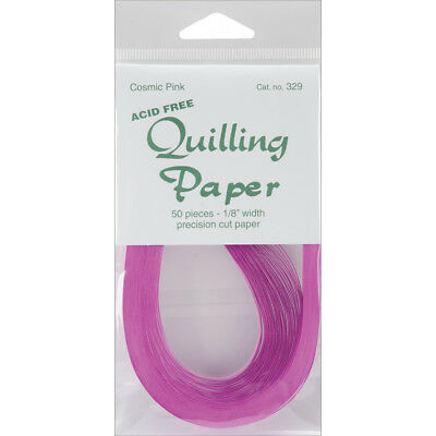 """Quilling Paper 0.125"""" (3mm) 50 Per Pack - Cosmic Pink"""
