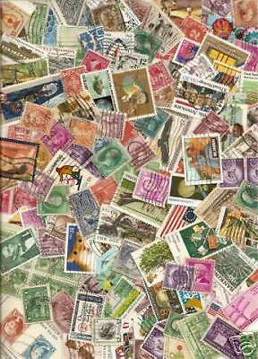 525 Used U.S. stamps off paper from a lot of 1,000,000.