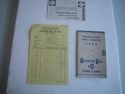 Vintage 1944 Hudson Hill Thresher Mill Catalog Plus More Olney Illinois ILL IL