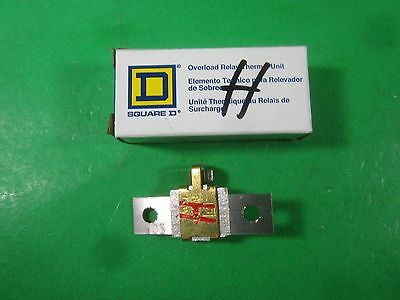 Square D Overload Relay Thermal Unit -- B 28 -- New