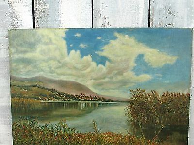 VINTAGE ORIGINAL OIL PAINTING LANDSCAPE SIGNED DATED PLEIN AIR CALIFORNIA