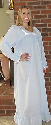 "Nightgown Long Lightweight 100% Cotton ""Made in USA"""