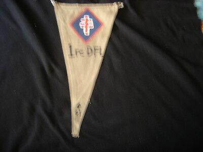 Wwii  1 St Free French Division  Command Post Tactical Pennet Flag