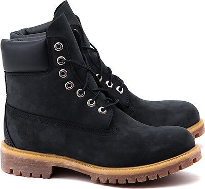 TIMBERLAND 6'' 6 INCH PREMIUM BOOT NAVY SUEDE SZ 8 - 13 AF * 6163A *