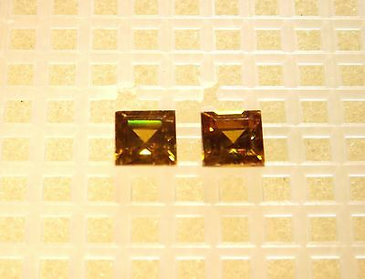 Very Rare Collector's Gem- All Natural Sphalerite (2) 5Mm Fancy Square 2.02Cts