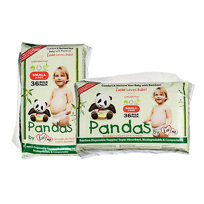 2p BAMBOO ECO Disposable Disposables Nappies Nappy Diapers Pampers Baby Cloth SM