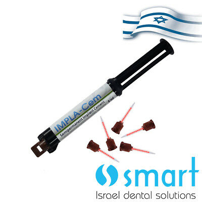 Dental implant cement Impla-Cem semi permanent  dual curing removable 5ml/8.6gr