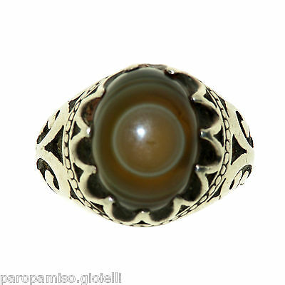 Persian Silver Ring Mounting an old Eye Agate stone -  Persia   -  (0664)