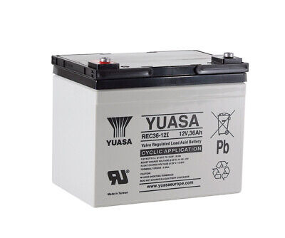 YUASA 12V 36Ah AGM/GEL GOLF TROLLEY BATTERY (36 Holes) MOCAD, FRASER, HILLBILLY