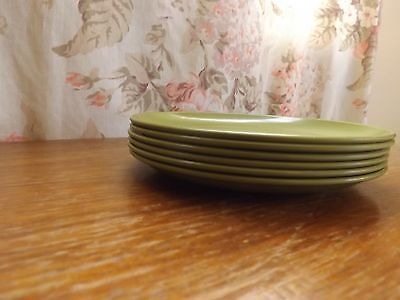 VINTAGE MELAMINE MELMAC Saucer PLATE Outdoor camping Avocado Green DISHES