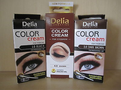 HENNA CREAM EYEBROW Professional Colour Tint Kit Set Dye for ...