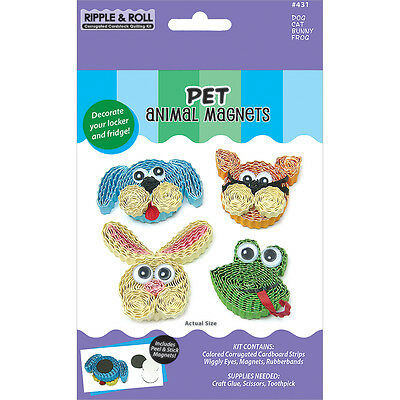Quilled Creations Kit - Animal Magnets - Pet