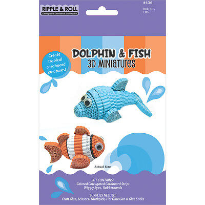 Quilled Creations Kit - 3D Miniatures - Dolphin & Fish