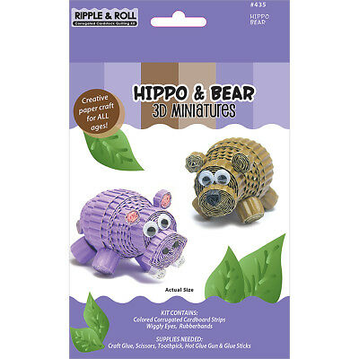 Quilled Creations Kit - 3D Miniatures - Hippo & Bear