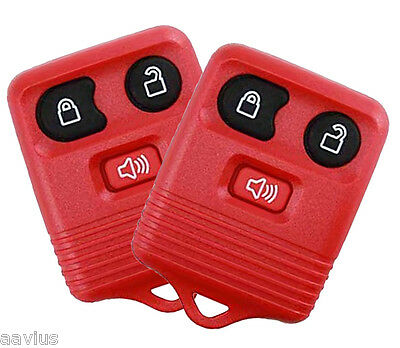Best 2 Replacement Keyless Entry Remote 3 Button Key Fob For Ford Car Truck RED