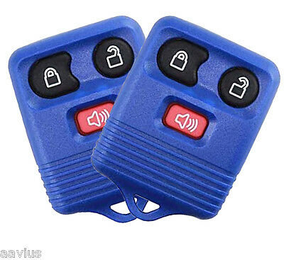 Best 2 Replacement Keyless Entry Remote 3 Button Key Fob For Ford Car Truck BLUE