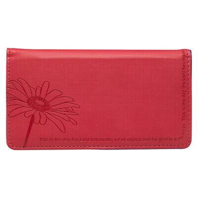 CHECKBOOK COVER, This is The Day Pink Floral Lux-Leather, FREE SHIPPING
