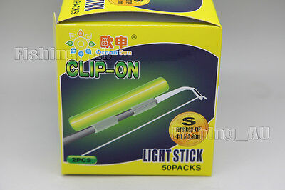 New Size S 100 X Chemical Light Fishing Fluorescent Glow Stick Fits All Rod Tip
