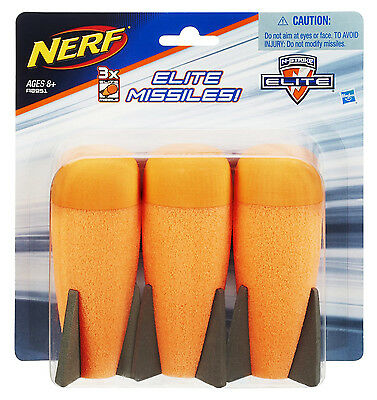 Nerf N-Strike Elite Missile Nachfüllpack - 3 Demolisher Raketen - Elite Missiles