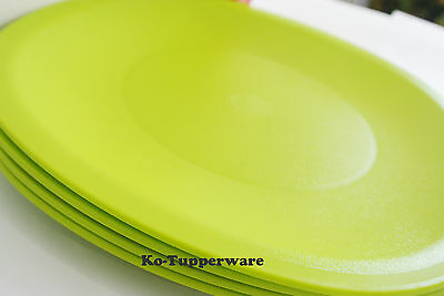 1 set Tupperware Blossom Microwaveable plates green casual entertaining