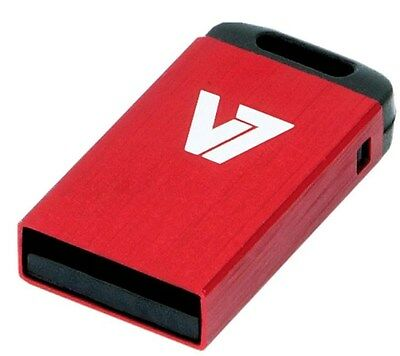 V7 Nano 8GB USB 2.0 Flash Stick Pen Memory Drive - Red