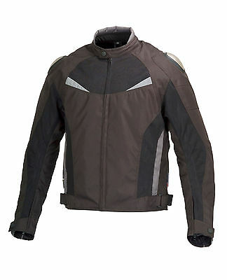 Men Motorcycle Cordura Race Jacket CE Protection Aluminum Shoulders Black MBJ059